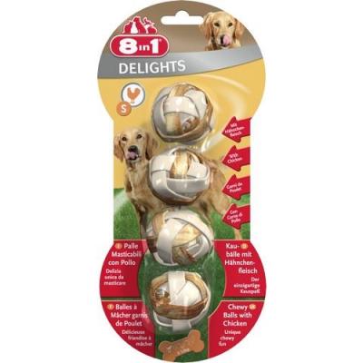 8 in 1 - 8in1 Delight Balls Köpek Ödül Kemikleri 4\'LÜ Small