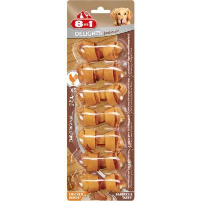 8 in 1 - 8in1 Delights Barbecue Köpek Ödül Kemiği 7\'li XS