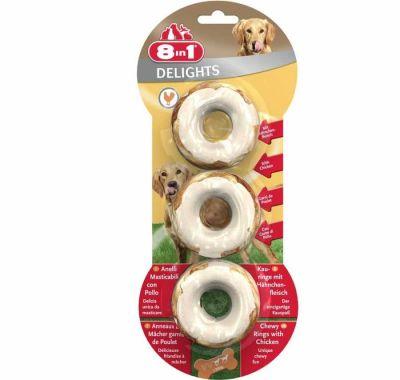 8 in 1 - 8in1 Delights Rings Köpekler İçin Ağız Bakım Kemiği Halka 3 Adet