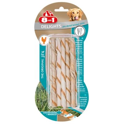 8 in 1 - 8in1 Delights ProDental Köpekler İçin Twisted Sticks 10lu