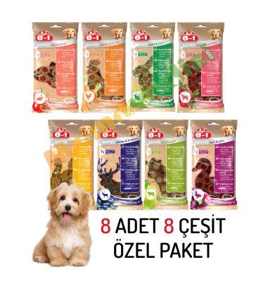 8 in 1 - 8in1 Minis Köpek Ödülü 100 Gr 8 ADET KARMA KOLİ