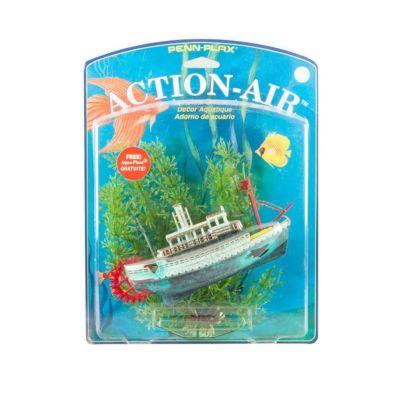 Diğer - Akvaryum İçin Dekoratif Buharlı Gemi