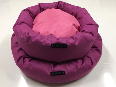 Allfi Pet - Allfi Pet Kumaş Kedi Köpek Simit Yatağı 62 Cm