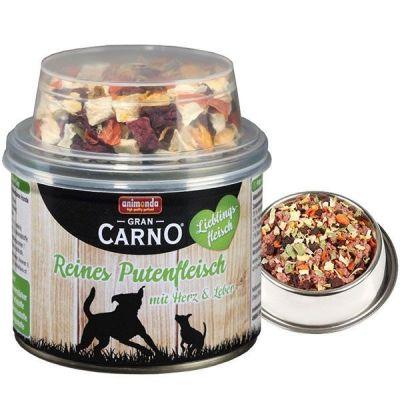 Animonda - Animonda Gran Carno Hindi Etli Sebzeli Köpek Konservesi 210 Gr