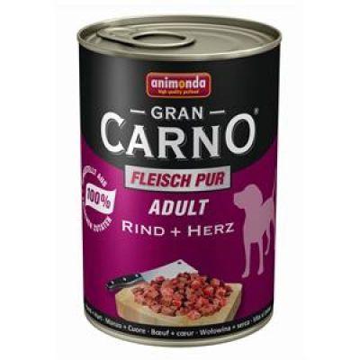 Animonda - Animonda Gran Carno Sığır Etli Yürekli Köpek Konservesi 400 Gr