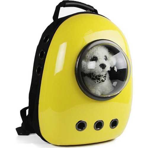 Miapet Astronot Kedi Köpek Taşıma Çantası 43x23x29 Cm Sarı