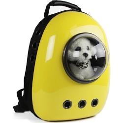 Miapet Astronot Kedi Köpek Taşıma Çantası 43x23x29 Cm Sarı - Thumbnail