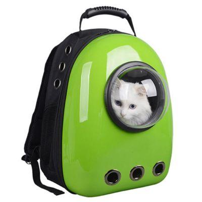 Miapet - Miapet Astronot Kedi Köpek Taşıma Çantası 43x23x29 Cm Yeşil
