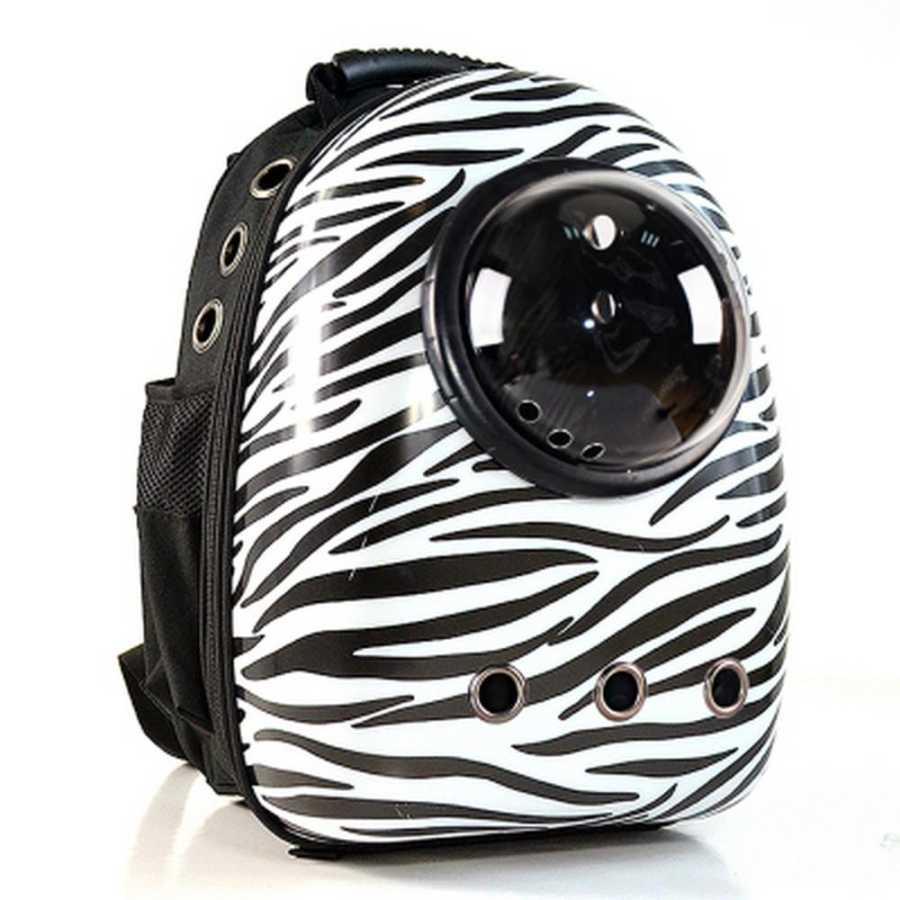Miapet Astronot Kedi Köpek Taşıma Çantası 43x23x29 Cm Zebra