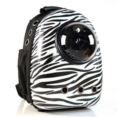 Miapet - Miapet Astronot Kedi Köpek Taşıma Çantası 43x23x29 Cm Zebra