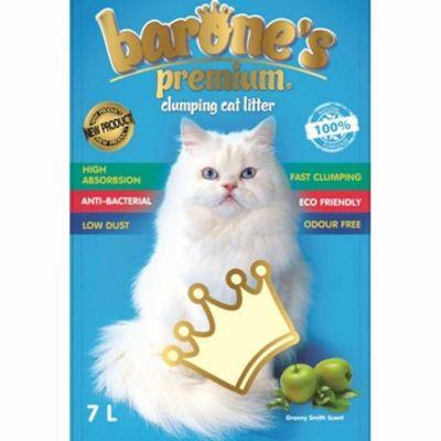 Barone's - Barone's Premium İnce Taneli Yeşil Elma Kokulu Bentonit Kum 7LT