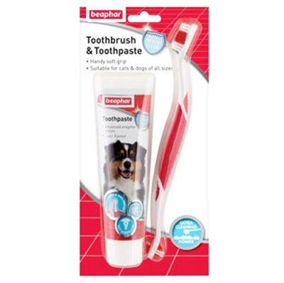 Beaphar - Beaphar Köpek Diş Macunu ve Diş Fırçası Seti