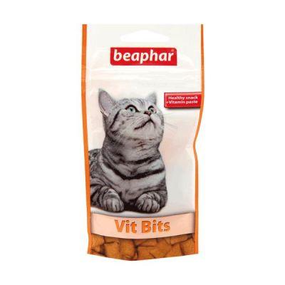 Beaphar - Beaphar Vit Bits Vitamin Macunlu Kedi Ödülü 35 gr