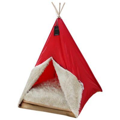 Diğer - Bedspet Kedi Köpek Çadırı Kırmızı 50x70 Cm