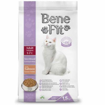 Benefit - Benefit Somonlu Kısırlaştırılmış Kedi Maması 12 Kg