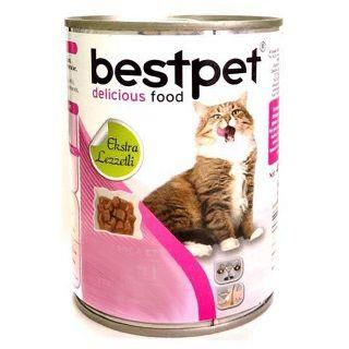 Best Pet - Bestpet Tavşanlı Konserve Kedi Maması 415 gr