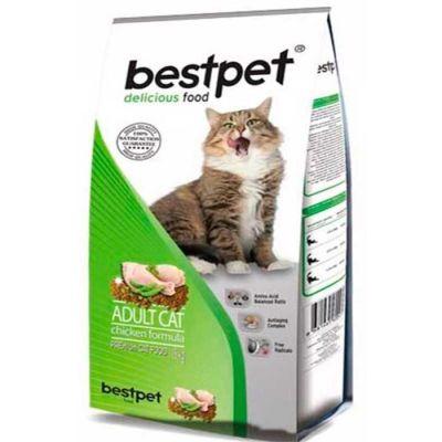Best Pet - BestPet Tavuk Etli Ve Pirinçli Yetişkin Kedi Maması 1 KG