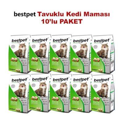Best Pet - BestPet Tavuk Etli Ve Pirinçli Yetişkin Kedi Maması 10 KG