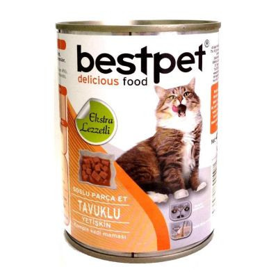 Best Pet - Bestpet Tavuklu Konserve Kedi Maması 415 gr
