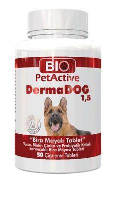 Diğer - Bio Pet Active DermaDog 50 Adet Sarımsaklı Bira Mayalı Çiğneme Tableti