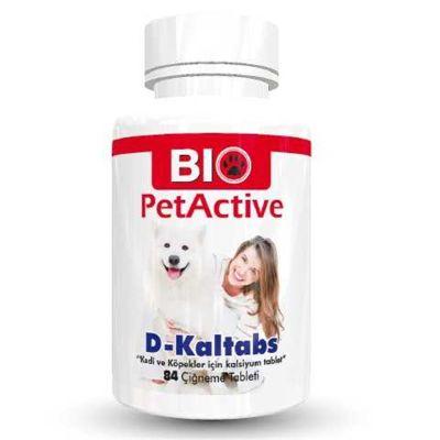 Bio Petactive - Bio PetActive D-Kaltabs Kedi ve Köpek Kalsiyum Tableti 84 Adet