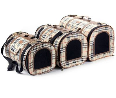 Bobo - Bobo Kumaş Kedi Köpek Taşıma Çantası Small 24x38x22 Cm