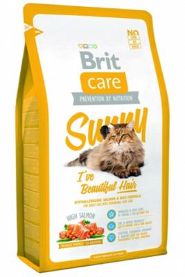 Brit Care - Brit Care Güzel Tüyler için Somonlu Yetişkin Kedi Maması 7 Kg