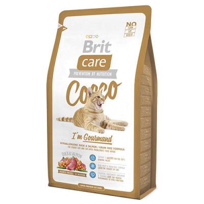 Brit Care - Brit Care Ördek Somon, Patatesli Tahılsız Hassas Kedi Maması 7 KG