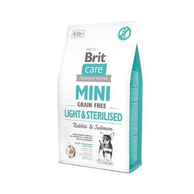 Brit Care - Brit Care Tahılsız Mini Light Sterillised Tavşanlı Köpek Maması 2 kg