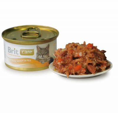 Brit Care - Brit Care Tuna Balık ve Havuçlu Kedi Konservesi 80Gr