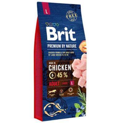 Brit Care - Brit Premium By Nature Tahılsız Tavuklu Büyük Irk Yetişkin Köpek Maması 15 KG