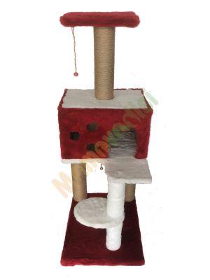 Diğer - Cat Hause Kedi Tırmalama Evi Kırmızı