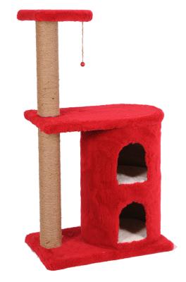 Diğer - Cat Hause S3 Kedi Tırmalama Evi 97x55x40 Cm Kırmızı