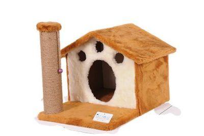Diğer - Cat Hause Kedi Tırmalama Evi 45 Cm Bej