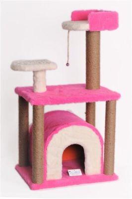Diğer - Cat Hause Kedi Yaşam Alanı ve Tırmalaması Pembe
