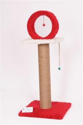 Diğer - Cat House Çemberli Tırmalama 78 Cm Kırmızı