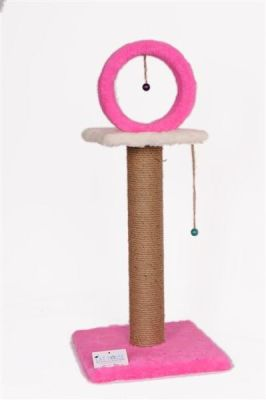 Cat Hause - Cat House Çemberli Tırmalama 78 Cm Pembe