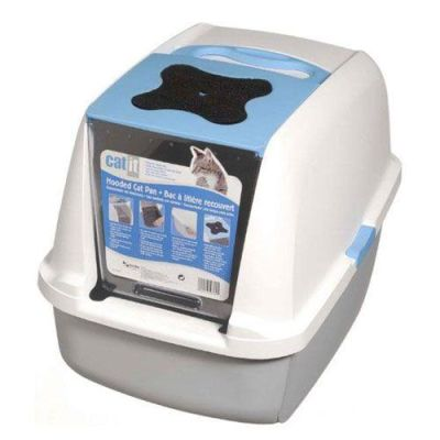 Catit - Catit Kapalı Kedi Tuvalet Kabini Mavi 57cm B x 46cm Y x 39cm