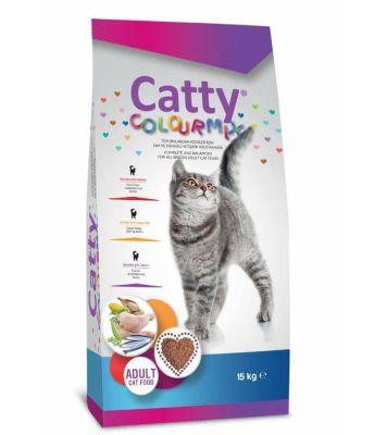 Catty - Catty Colourmix Renkli Taneli Yetişkin Kedi Maması 15 KG
