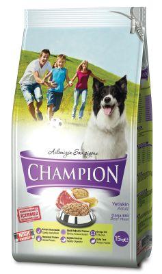 Champion - Champion Dana Etli Yüksek Enerjili Yetişkin Köpek Maması 15 Kg
