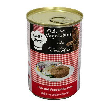 Chef′s Choise - Chefs Choice Balıklı Sebzeli Ezme Tahılsız Kedi Konseve Maması 400 Gr