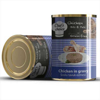 Chef′s Choise - Chefs Choice Tavuk Etli Ezme Tahılsız Kedi Konseve Maması 400 Gr