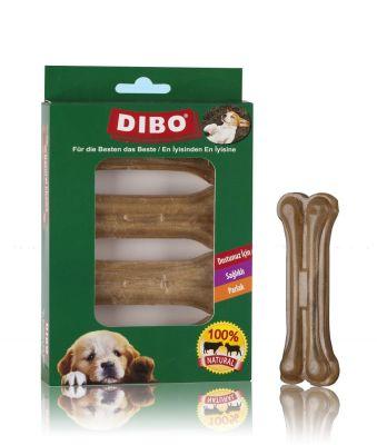 Dibo - Dibo Naturel Pres Köpek Ödül Kemiği 10 Cm 4 Lü 120 Gr