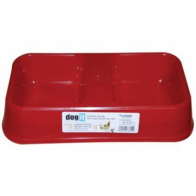 Dogit - Dogit 73345 İkili Plastik Mama-Su Kabı Kırmızı