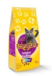EcoNature Renkli Taneli Balıklı Yetişkin Kedi Maması 15 KG - Thumbnail