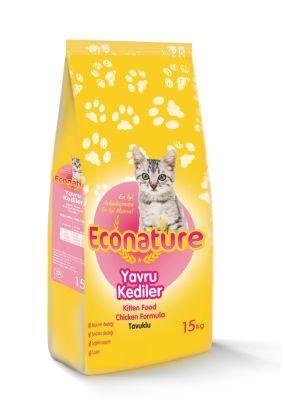 Eco Nature - EcoNature Tavuklu Yavru Kedi Maması 15 KG