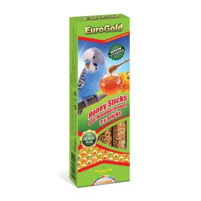 EuroGold - EuroGold Ballı Muhabbet Kuşu Krakeri 3 lü 100 Gr