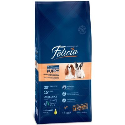 Felicia - Felicia Kuzulu Küçük/Orta Irk Yavru Köpek Maması 15 kg