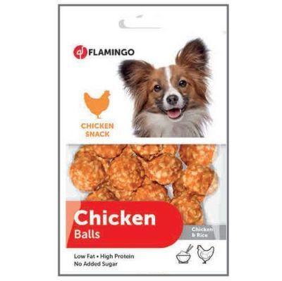 Karlie - Flamingo Tavuk ve Pirinçli Top Köpek Ödülü 75 gr