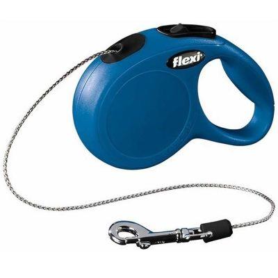 Flexi - Flexi New Classic Otomatik İp Köpek Gezdirme Tasması M 20KG 8M MAVİ